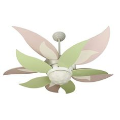 Craftmade K10 2 Light 52in. Bloom Kit Ceiling Fan, White- perfect for a fairy room...And just neat.