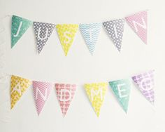 Easy and adorable alphabet bunting...ready-to-print!  Great for lots of different celebrations!