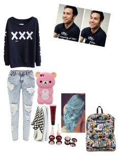 """""""Untitled #172"""" by deathnotehappiness ❤ liked on Polyvore featuring River Island, Vans, Forever 21 and JanSport"""