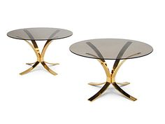 1960's Brass coffee tables by Dunbar, USA #Vintage #Design #Interiors  http://www.fearsandkahn.co.uk/dunbartables.htm