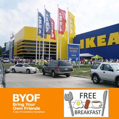 IKEA : Free Breakfast + More on 3/7/15 http://www.mybargainbuddy.com/ikea-free-breakfast-more