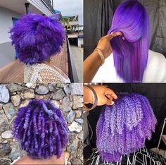Purple Hair Black Girl, Hair Color For Black Hair, Cool Hair Color, Dying Your Hair, Dye My Hair, Curly Hair Styles, Natural Hair Styles, Twisted Hair, Dyed Natural Hair