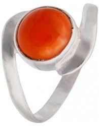 Precioso anillo de plata y cornalina. Precio 8 €  Ref: JYR81. Pide tu talla
