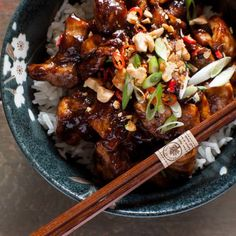 Fresh, spicy, salty and sweet, this 20 minute Kung Pao Chicken will have you breaking up with your favorite takeout.