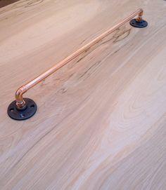 Industrial Copper Pipe Towel Bar Towel Rod Modern by MacAndLexie