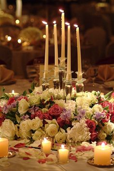 taper candle wedding candle centerpiece