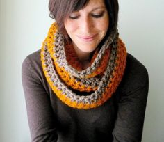 The circle scarf. Worn as a scarf or scarf/hood. Why didn't I think of this?