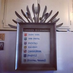 I want to make a Game Of Thrones themed dinner planning menu for my fridge. Game Of Thrones Decor, Game Of Thrones Gifts, Game Of Thrones Party, Dinner Is Coming, Game Of Thrones Birthday, Game Of Thrones Premiere, Planning Menu, Got Party, Party Party