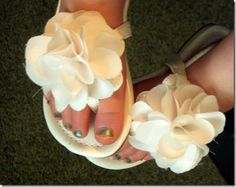 very cute way to decorate little girl shoes