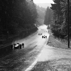 1964 Jim Clark, in front in a Lotus 33, at the Nürburgring.