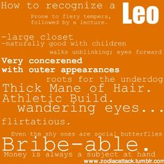 How to recognize a Leo. Get in-depth info on the traits & personality of the Zodiac Sign: Leo http://www.buildingbeautifulsouls.com/zodiac-signs/western-zodiac/leo-star-sign-traits-personality-characteristics/