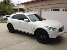 This is my 2011 Infiniti I love the white/black look Give me a thumbs up! Infiniti Fx35, Nissan Infiniti, Expensive Cars, Future Car, Dream Cars, More, Vroom Vroom, Street, Hygge