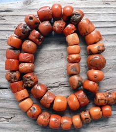 Old Berber natural coral beads salvaged from an old Moroccan necklace | 135 grams | 7'550$