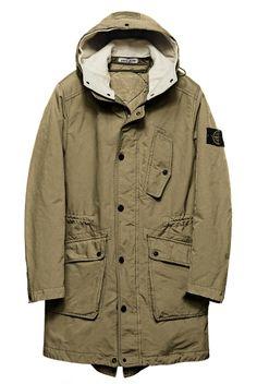 Asian Men Fashion, Fashion Men, Stone Island, Man Weave, Hooded Parka, Sweater Jacket, Streetwear Fashion, Menswear, Men's Outerwear