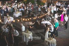 Second line dance at Dunleith Plantation Wedding, Natchez, MS