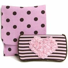 Carrie-Travel Duo Set What a great set! We also added a fabulous handmade tulle heart, super chic and trendy for all cool babies and mommies everywhere! Baby Wipe Case, Wipes Case, Baby Shower Gifts, Baby Gifts, Valentine Gifts For Kids, Stroller Blanket, Cool Baby Stuff, Baby Accessories, Burp Cloths