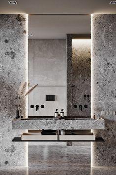 "INTERIOR PORN on Twitter: ""Loving the interior of this home… "" Washroom Design, Bathroom Vanity Designs, Toilet Design, Bathroom Design Luxury, Luxury Homes Interior, Interior Architecture, Minimalist Interior, Interiores Design, Bathroom Inspiration"