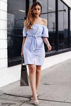 Off-the-Shoulder Knotted Dress