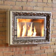Vintage Picture Frame Three Burner Wall Firespace - wow!