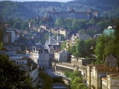 Not what you'd think of as a spa town, Karlovy Vary.