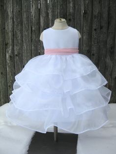 Items similar to Flower Girl Dress - Ruffle Organza Gown - Easter dress - Custom Colors - Made to Order on Etsy Toddler Outfits, Girl Outfits, Princess Flower Girl Dresses, Girls Easter Dresses, Vintage Gowns, Dress First, Ruffle Dress, Kids Fashion, Dream Wedding