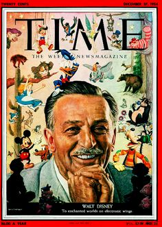 Walt DIsney Time Magazine cover.