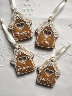 Personalised Gingerbread House Hanging Decoration / Gingerbread House Christmas … – The Best Christmas Cookies Gingerbread Ornaments, Gingerbread Decorations, Christmas Gingerbread House, Noel Christmas, Christmas Gift Tags, Christmas Treats, Christmas Baking, Christmas Decorations, Gingerbread Houses