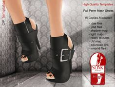 ONLY 15 Zoe Slink Heels High Feet - Semi Exclusive - Full Perm *OP TEMPLATES*