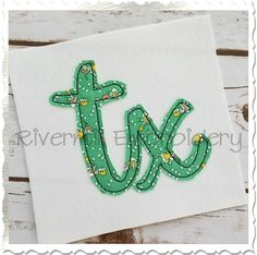 """$2.95Raggy Applique Texas """"tx"""" Machine Embroidery Design"""