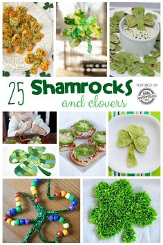 Lots of great Shamrock crafts for St. Patrick's day! Fun for kids and adults.