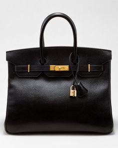 Hermes Black Ardennes Leather Birkin 35cm