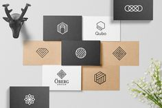 Geometric logos + free sample on Behance