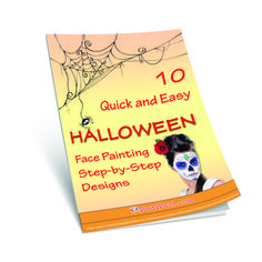 10 Quick and Easy Halloween Face Painting Designs in this free ebook!