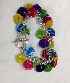 Favorite Findings Button Charm Bracelet by helen