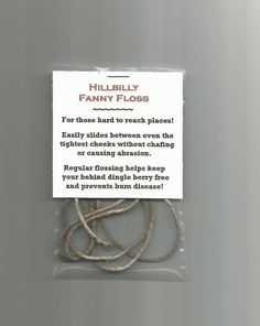 New Hillbilly Fanny Floss Gag Gift Novelty Item Party Favor Stocking Stuffer | eBay