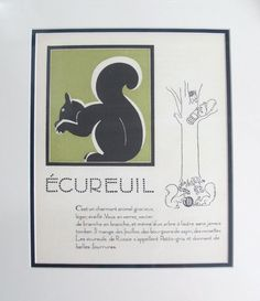 1930s French Art Deco Giclee/Squirrel - L'Affichiste - $150.00