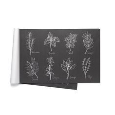 Napperons de papier « Fines herbes » 19.99 $ Old Mattress, White Paper, Notebook, Black And White, Products, Fine Paper, Electrical Products, Dinner Plates, Black N White