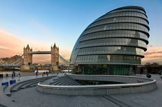 City Hall, headquarters of the Greater London Authority (GLA) and Tower Bridge