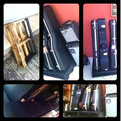 Out first palet project. Guitar stand case from a palet. #palet #guitar #stand #case # homemade