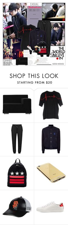 """""""Street Chic"""" by rainie-minnie ❤ liked on Polyvore featuring Kartell, Alexander Wang, Billionaire, Givenchy, Goldgenie, New Era, Gucci, men's fashion and menswear"""