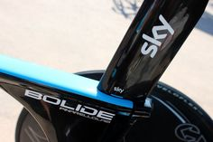 Tour de France 2013, Chris Froome's Pinarello Bolide time trial bike - Team Sky don't miss a trick when it comes to branding. Note the 'Sky' sticker which indicates Froome's saddle height