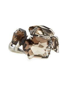 Smoky Gold Quartz Marquise Ring with Diamonds by Alexis Bittar at Neiman Marcus.