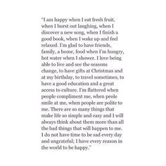 Love this. I will probably read this over and over when I'm having a bad day