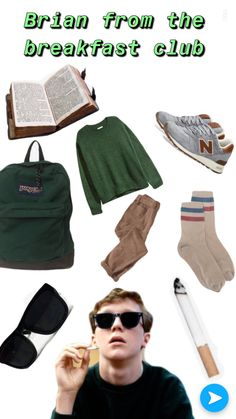 Part of my breakfast club series😁👍🏻 Breakfast Club Costume, The Breakfast Club, Brian Johnson, Indie Movies, Old Movies, Halloween Outfits, Halloween Costumes, Save Ferris, Clubbing Outfits