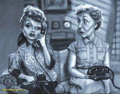 "Lucille Ball (Lucy Ricardo), Vivian Vance (Ethel Mertz) - ""I love Lucy"" Cartoon People, Cartoon Faces, Funny Faces, Cartoon Art, Cartoon Ideas, Cartoon Drawings, Funny Caricatures, Celebrity Caricatures, Celebrity Drawings"