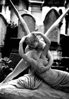 Montparnasse Cemetery   Eternal Kiss, Paris France by Toni Kaarttinen