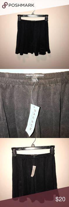 Brandy Melville skirt Brandy Melville skirt. Brand new with tags. Black velvet Brandy Melville Skirts Mini
