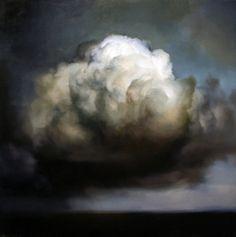 Ambera Wellmann (Nova Scotian, b. 1982 Lunenburg, Nova Scotia) - Cloud Paintings: Oil on Wood Abstract Landscape, Landscape Paintings, Abstract Art, Sky Painting, Painting & Drawing, Cloud Art, Malm, Painting Techniques, Painting Inspiration