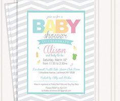 Chevron Baby Shower Invitations by GingerSnapsOriginal on Etsy