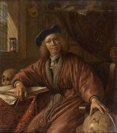 Attribué à Cornelis de Man (1621-1706), Le Géographe. Photo Piasa